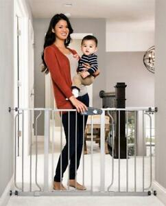 Used Regalo Easy Step 49-Inch Extra Wide Baby Gate, Includes 4-Inch and 12-Inch Extension Kit, 4 Pack of Pressure Mou...