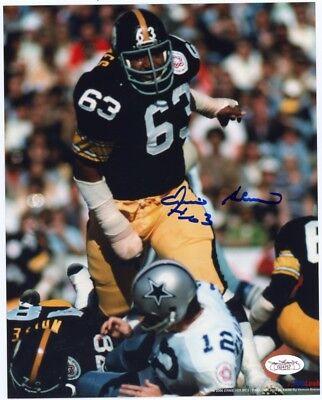 Ernie Holmes Autographed Pittsburgh Steelers 8x10 Photo (Sack) - JSA COA ()