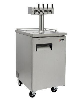 Kegco Four Tap Commercial Javarator Iced Coffee Keg Dispenser - Stainless Steel