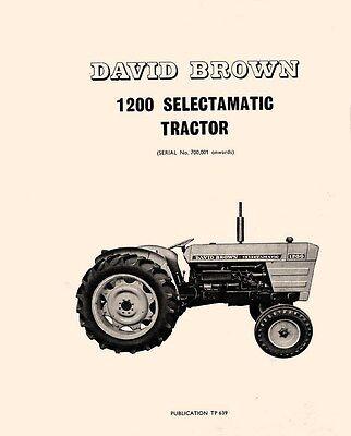 1200 David Brown Case Tractor Parts Catalog Manual