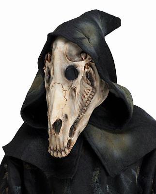 Dämon Maske (Latex Maske dämonischer Schädel Pferd Kapuze Halloween Horror Skull Dämon Tod)