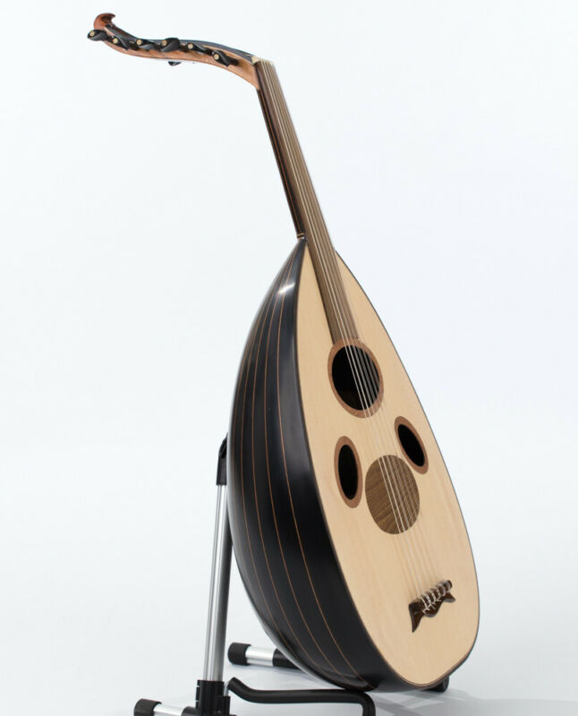 Quality Syrian Oud Black Walnut Wood by Master Ahmet + Original Pyramid Strings