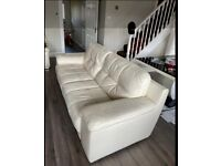 Sofology leather sofa 3 seater 1 seater and storage foot stool