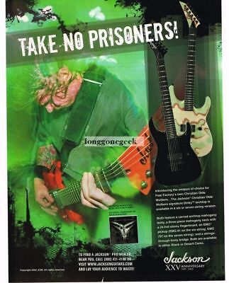 2005 JACKSON Dinky Guitars CHRISTIAN OLDE WOLBERS of Fear Factory Vintage Ad