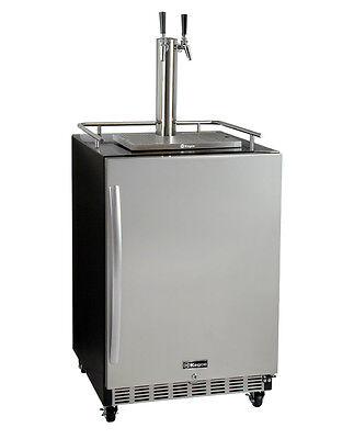 Kegco Hk38bsc-2 2-tap Commercial Built-in Kegerator W X-clusive Dispense Kit