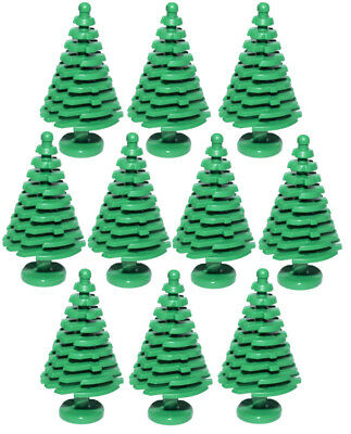 - 10 NEW LARGE LEGO CHRISTMAS TREES pine parts pieces tall 4x4x6 2/3 3471 greenery