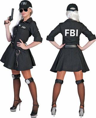 FBI Special Agent Lady Damenkostüm NEU - Damen Karneval Fasching Verkleidung - Fbi Agent Damen Kostüm