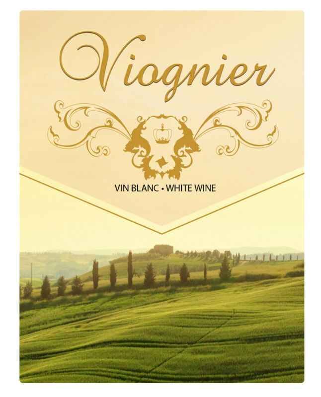 Viognier Self Adhesive Wine Labels 30 count