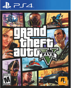 GTA 5 PS4 in a new with the sealed of a man game in a city