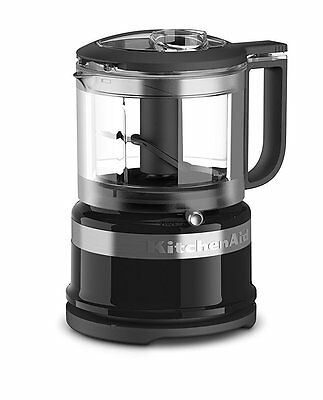 KitchenAid RKFC3516OB 3.5 Cup Mini Food Processor, Onyx Unprincipled CERTIFIED REFURB
