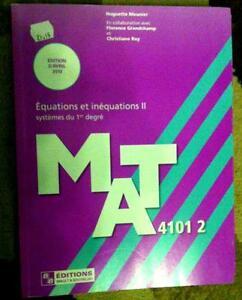 Mat 41012 équations et inéquations