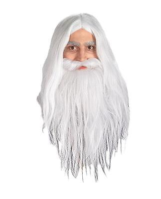 LORD OF THE RINGS GANDALF WIG AND BEARD SET COSTUME RU50943 - Lord Of The Rings Beards