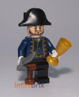 Lego CUSTOM Hector Barbossa (Plain Hat) for Pirates of the Caribbean cus142 - Hector Barbossa