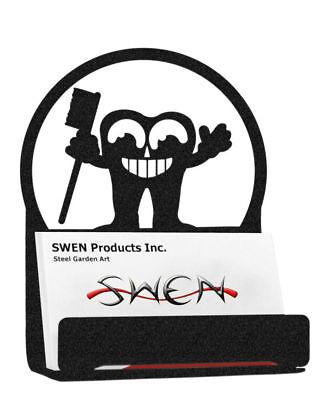 Swen Products Tooth Dental Black Metal Business Card Holder