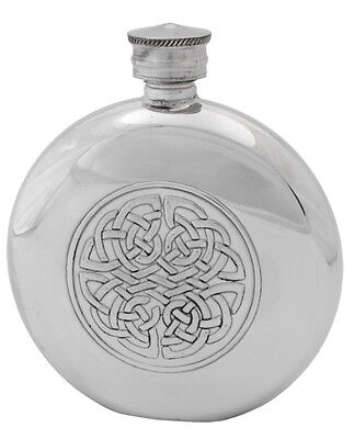 3oz ENGLISH PEWTER HIP FLASK RUSTIC HANDMADE by PINDER BROS SHEFFIELD ** NEW **