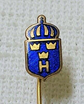 Vintage Sweden Homeguard  Dark Blue Enamel Stickpin