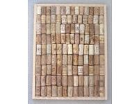 New Vintage Notice Message board with recycled wine corks Great Fathers day gift