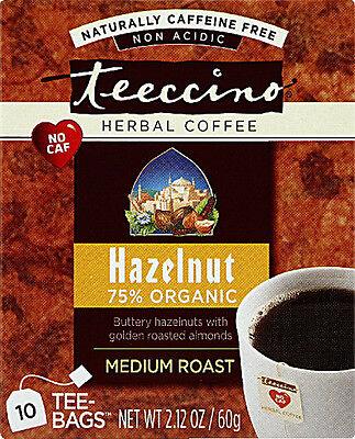 Hazelnut Herbal Coffee, Teeccino, 10 tea bag