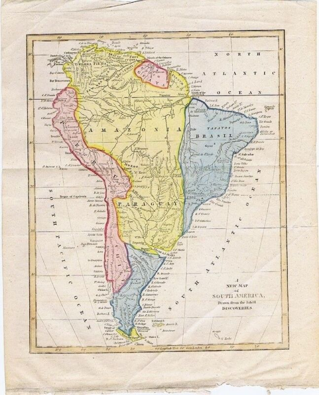 A New Map of South America, drawn from the latest Discoveries, ca 1700-1730