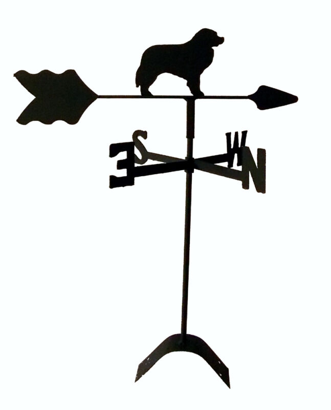 bernese mountain dog roof mount weathervane black wrought iron look TLS1046RM