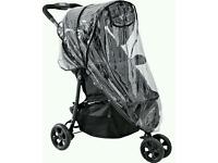 Brand new raincover for 3 wheeled pushchair