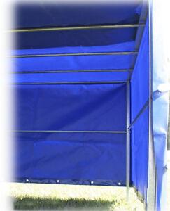 Aufbau Spriegel Plane STEMA Hochplane für Anhänger F 750 DBL 750 850 BLAU 1m