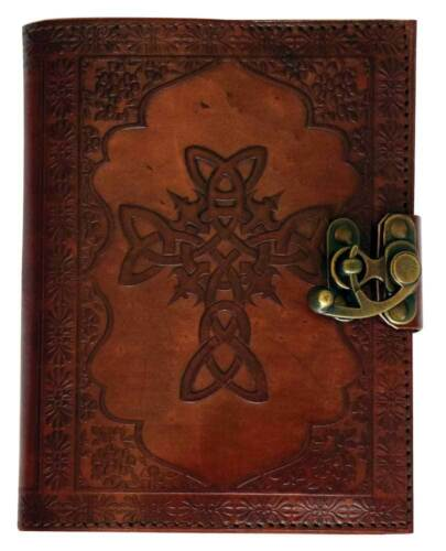 "5"" x 7"" Leather Embossed Celtic Cross Journal"