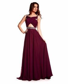 Brand New with Tags Ruby Prom/ Evening dress Lydia Wine Size 8