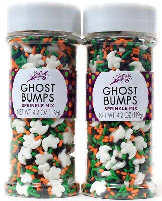 2 Festival Ghost Bumps Sprinkle Mix Seasonal Halloween Food Decorating Baking](Halloween Baking Mixes)