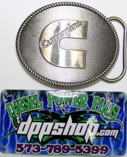 Cummins emblem dodge belt buckle rodeo latch logo replacement polished cummings