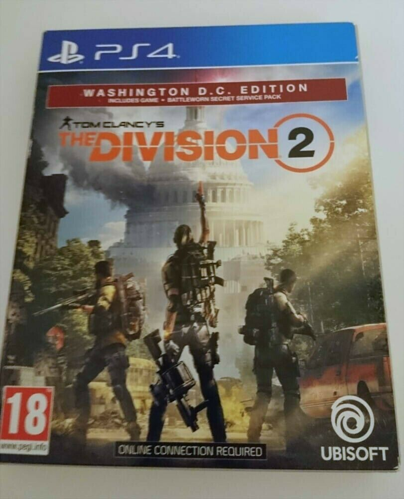 The Division 2 Washington D.C. Edition PS4 (Sony Playstation 4 PS4, 2019)