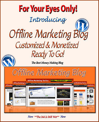 Offline Marketing Blog Self Updating Website - Clickbank Amazon Adsense Pages