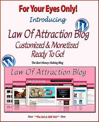 Law Of Attraction Blog Self Updating Website - Clickbank Amazon Adsense Pages