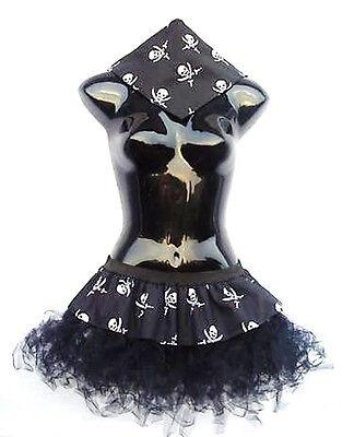 Pirat Tutu (PLUS SIZE 16-22 Dark Pirate Cyber Tutu Bandanna By The Dragon Den Fancy Dress)
