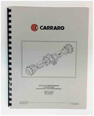 Carraro Model 26.28m 6k 8k Front Axle Repair Manual Pettibone Forklift