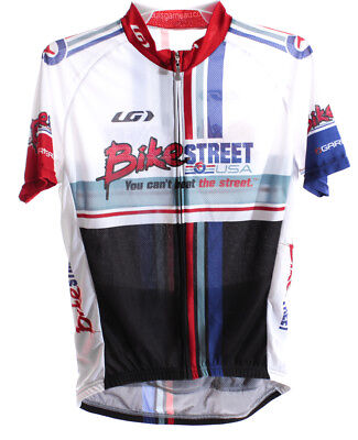 White Louis Bike Jersey - LOUIS GARNEAU Women Cycling Jersey Short Sleeve XS White/Black/Blue Bike St NEW