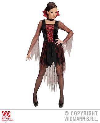 Vampira Vampir Kostüm,Damen, sexy kurz,Fransen, Halloween  S, M, L