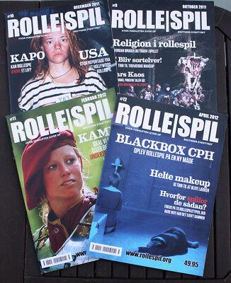 4 x ROLLESPIL #9 #10 #11 #12 - Hvor fornuften giver op - larp magazines - NEW