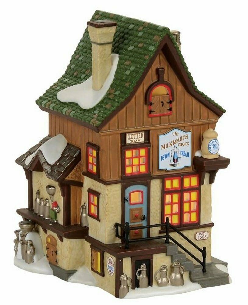 Dept 56 Dickens Village Eight Milkmaids Crock Lighted Dairy