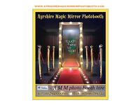 Ayrshire magic mirror photo booth hire Ayrshire kilmarnock ayr Irvine largs ,paisley & Glasgow