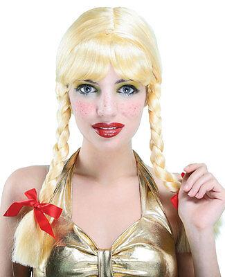 Zopfperücke Blondi Blond für Damen NEU - Karneval - Blonde Perücken Für Halloween