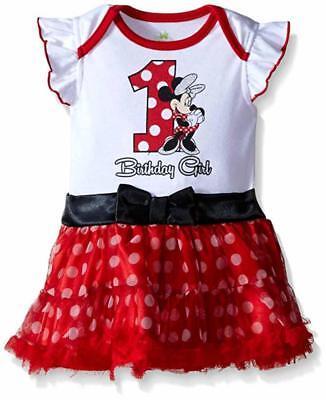 Disney Baby Girls' Minnie Mouse First Birthday Dress Size 12/18M