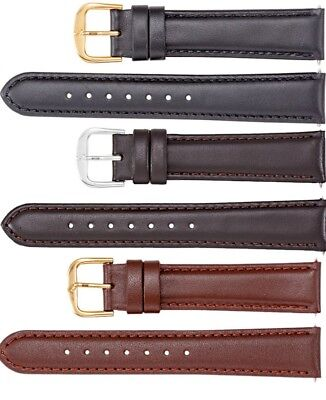 (New Men's Regular Padded Calf Leather Watch Strap Band)