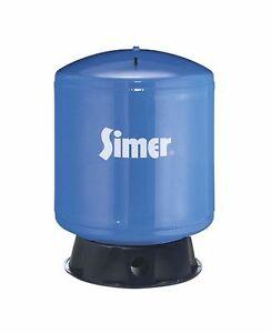 Simer VT36 35 Gallon Vertical Pre-Charged Bladder Tank, Blue