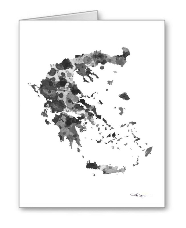 GREECE Note Cards With Envelopes
