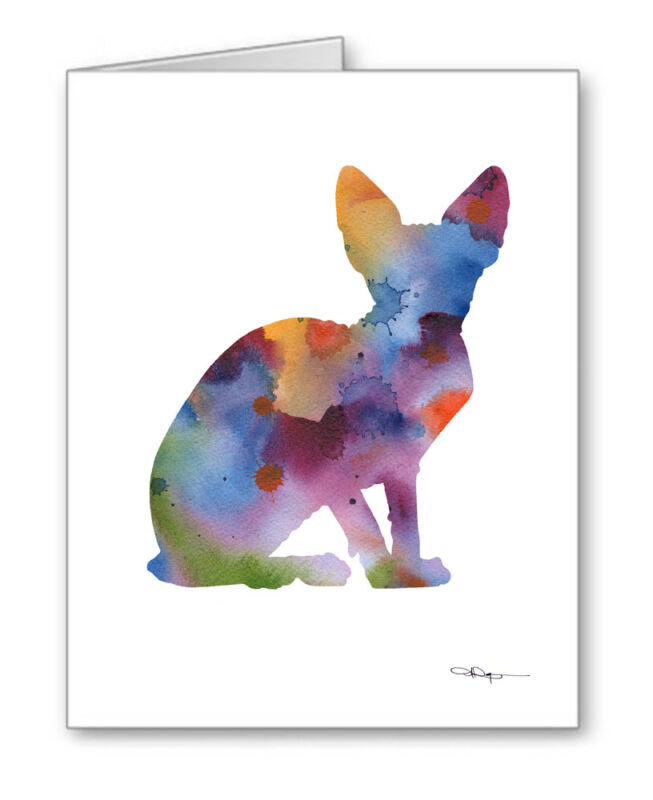 SPHYNX CAT Note Cards With Envelopes