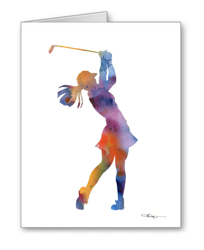 GOLFER Note Cards With Envelopes