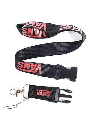 *Black Red VANS Skate Sport Lanyard Key ID Badge Phone Neck Strap+FREE STICKERS*
