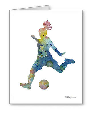 SOCCER PLAYER Note Cards With Envelopes