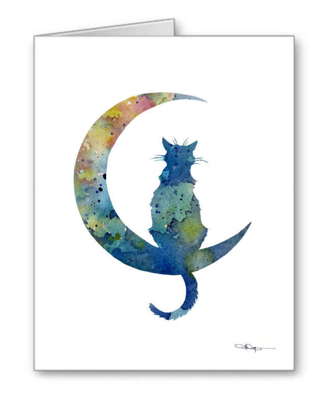 BLUE MOON CAT Note Cards With Envelopes